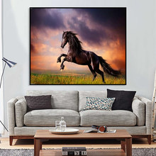 DIY Abstract Painting By Numbers Digital Kits Coloring Horse Scenery Oil Pictures Handpainted Canvas Home Decor Wall Art Craft(China)