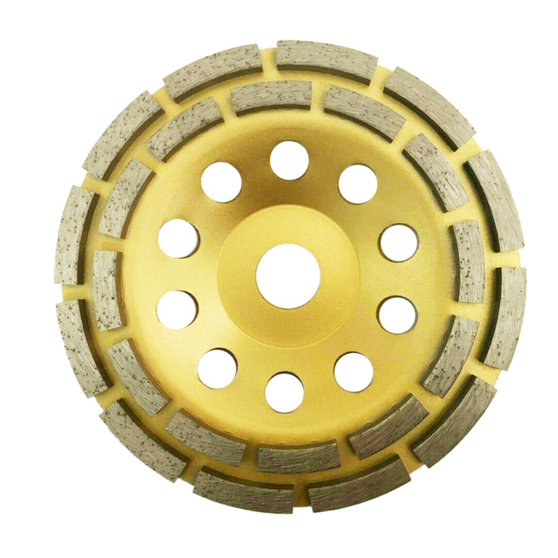 150Mm 7 Inch Diamond 2 Row Segment Grinding Wheel Sanding Disc <font><b>Sander</b></font> Grinder Cup Abrasive <font><b>Tools</b></font> 22Mm Hole for Concrete Granite image
