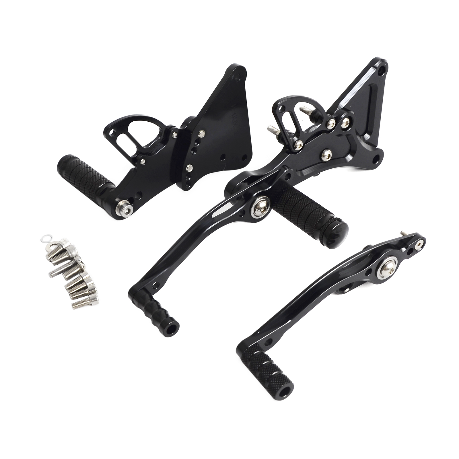 NICECNC Motorcycle Rearset Rear Set Footpegs For Buell XB9S XB12S XB9R XB12R All Years CNC-Machined From 6061-T6 Billet Aluminum