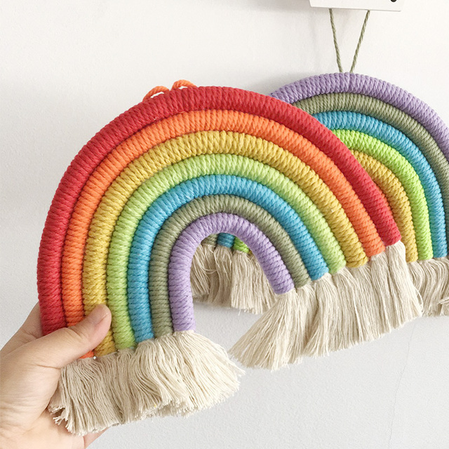 Handmade Rainbow Wall Hanging Decor