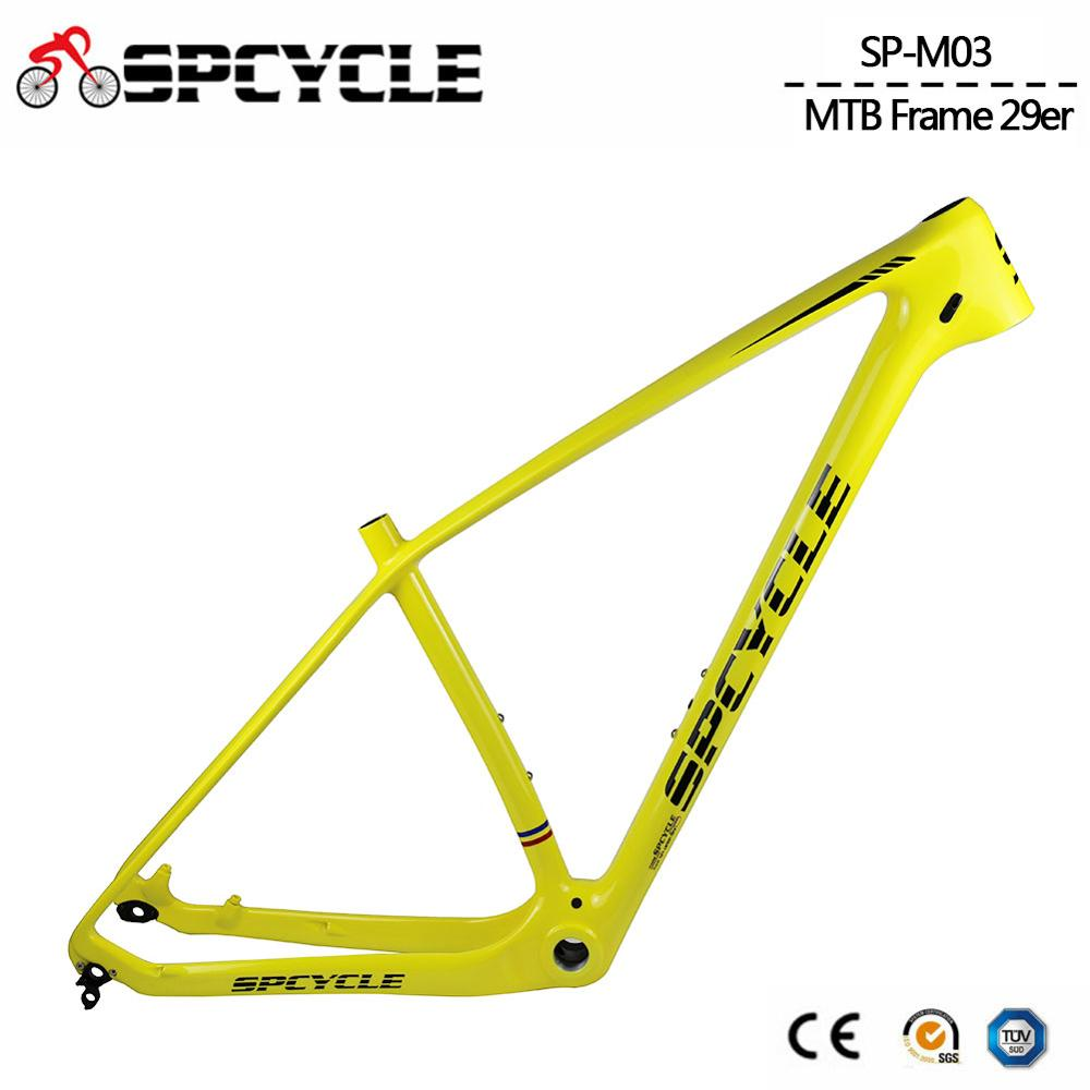 Spcycle T1000 Carbon MTB Frame 27.5er 29er Carbon Mountain Bike Frame BSA 73mm Compatible With 142*12mm Thru axle and 135*9mm QR