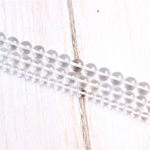 White crystal Natural Stone Beads For Jewelry Making Diy Bracelet Necklace 4/6/8/10/12 mm Wholesale Strand