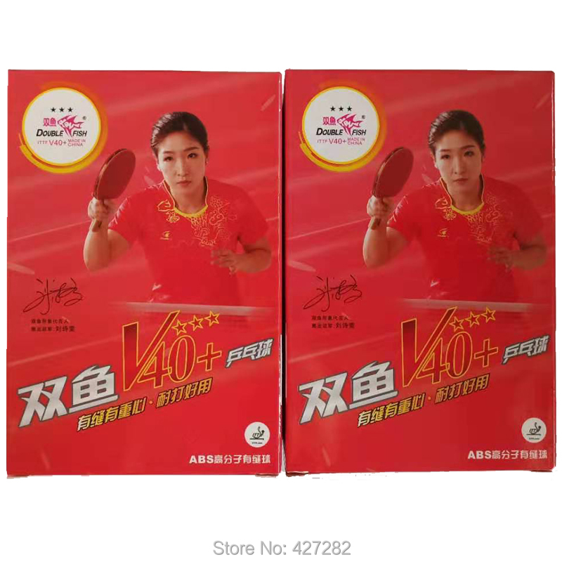 Original Double Fish 3 Stars V40+ Table Tennis Ball ABS Polymer Material For Ping Pong Racket Game Wholesale Total 12 Balls