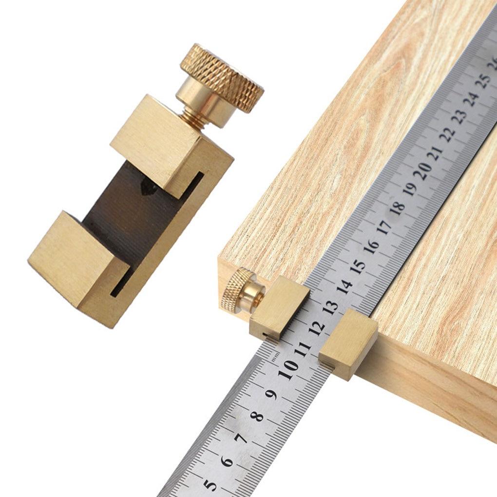 Линейка латунный позиционирующий блок деревообрабатывающий линейка