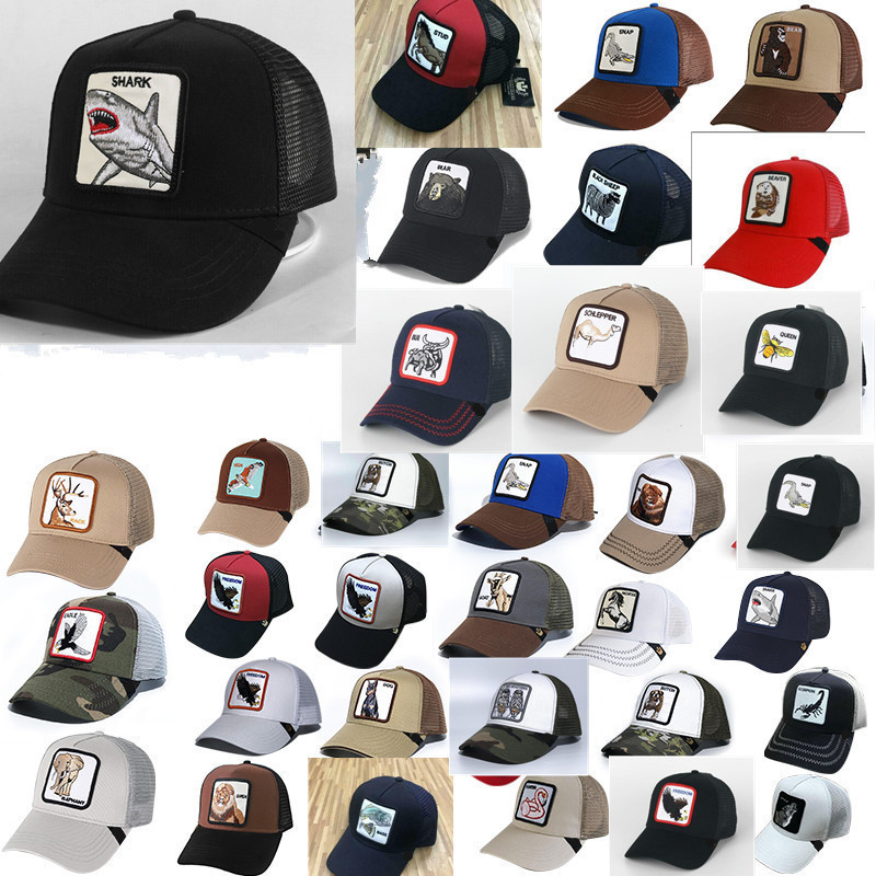 New Baseball Cap Animal Embroidery Anime Cute EmbroiderySummer Mesh Men's Ms. Outdoor Sunshade Truck Driver Hats