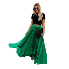 New Skirt Womens Long Pleated Casual Solid Women Clothing Winter Clothes Skirts for Street Wear Fashion Hot