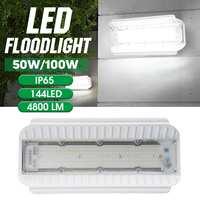 220V 50W/100W LED Flood Light Waterproof IP65 Spotlight High Lighting Low Energy Outdoor Wall Lighting White Light|Floodlights| |  -