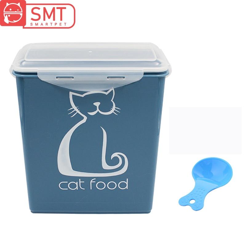 Smartpet 5.8L Airtight Dog Cat Food Storage Container Large Capacity Pet Food Sealed Barrel Moistureproof Fresh Food Box