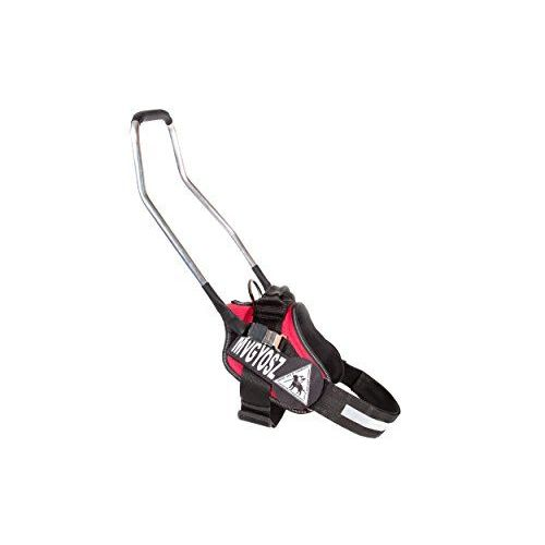 Julius K9IDC Imbracatura Per Cani Blind-Guide Con Manico In Alluminio, 16x 45cm, Misura 1, Rosso