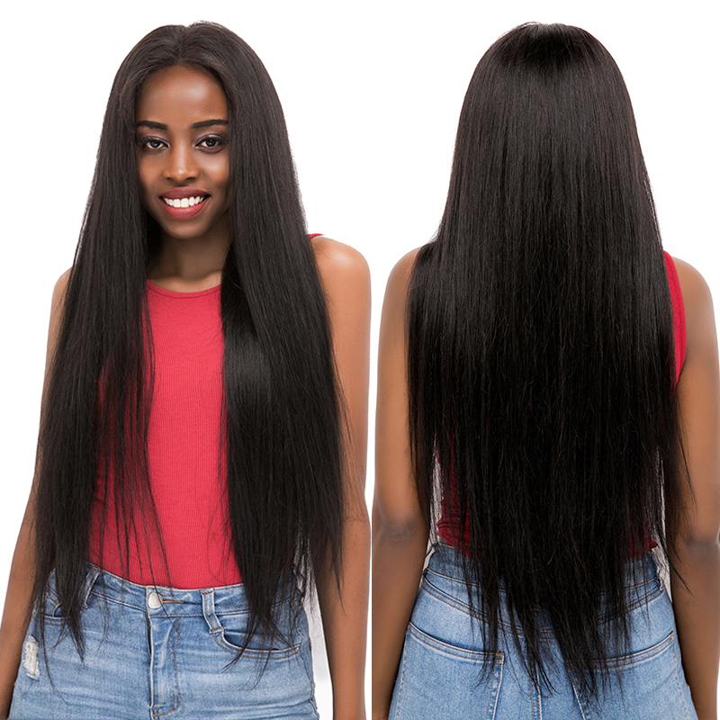 Brazilian Straight Lace Front Human Hair Wigs 13x4/13x6 Pre Plucked Hairline Lace Front Wigs With Baby Hair Non-Remy Hair KEMY