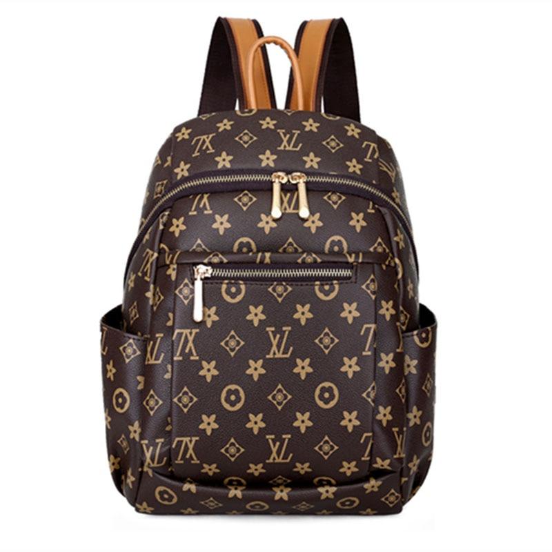 2018 New Style Backpack Women's Versatile Stylish Large-volume Printed Sling Bag Crossbody Bag Casual Travel Bag STUDENT'S Bag W