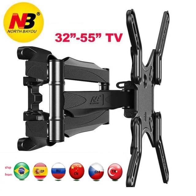 """NB P5 32 """" 52"""" 42 """"50"""" 6 brazo VESA400X400 200X200 retráctil movimiento completo LCD TV montaje pared brazo movible soporte tv mecanismo de elevación"""