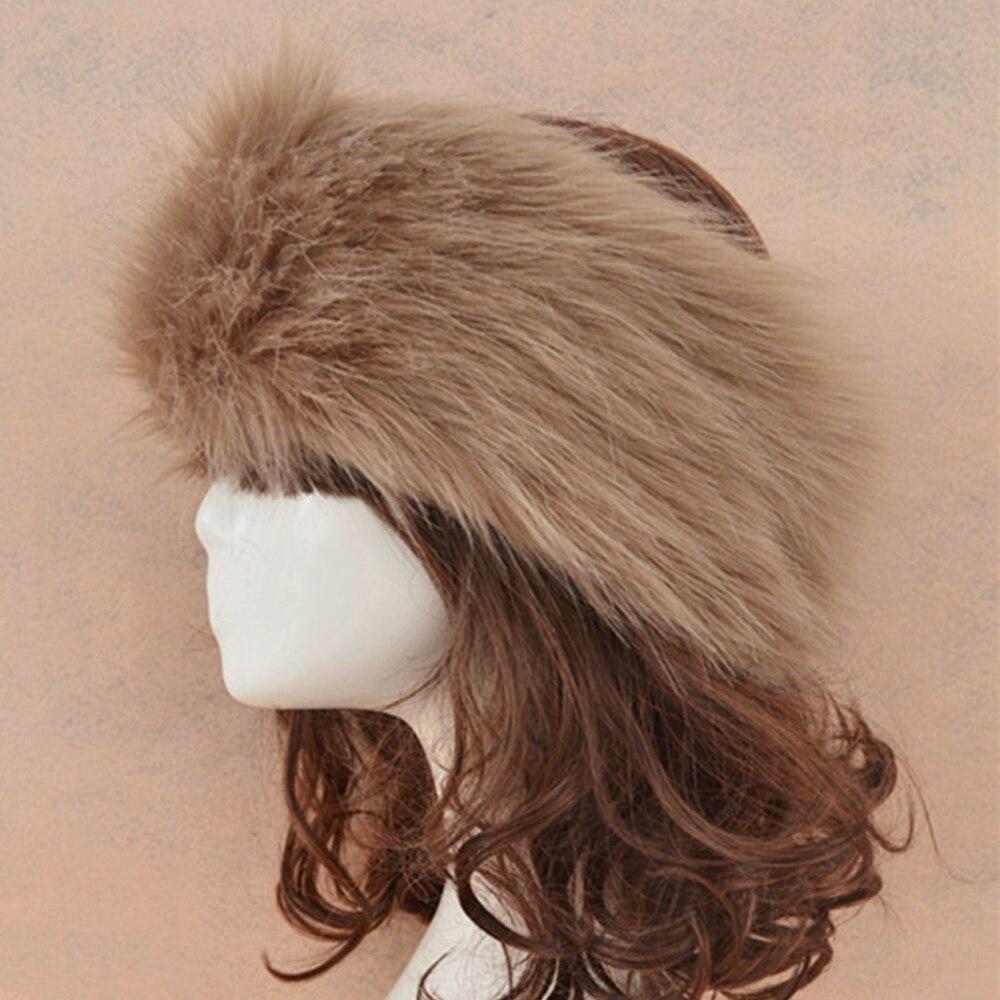 Chic Ladies Faux Fur Hat Russian Style Cossack Outdoor Winter Snow Ski Cap