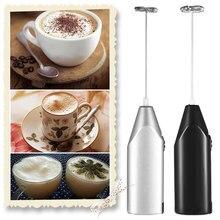 Batedor elétrico de leite e bebidas, misturador de espuma para leite e bebidas de cozinha, agitador, batedor de ovos
