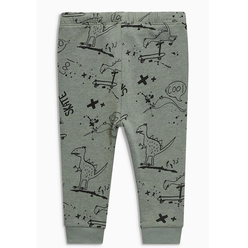 Little maven baby boy trousers children's knitted cotton stretch toddler boy animal dinosaur print pants 11031 2