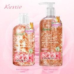 Kustie essenza di fiori di gel doccia rosa 220 ml + 720 ml di profumo profumo corpo idratazione profonda idratante cura della pelle regalo di famiglia gel doccia
