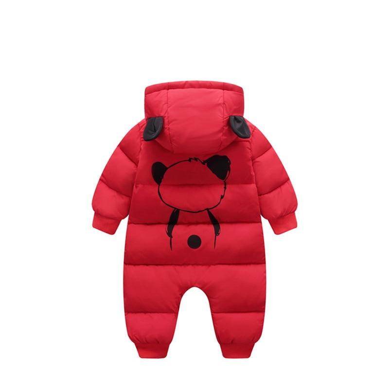 Baby jumpsuit down jacket Newborn Baby Boy Girl Cartoon Winter Warm Thick Jumpsuit Hooded Coat Outwear #4AA22 (8)
