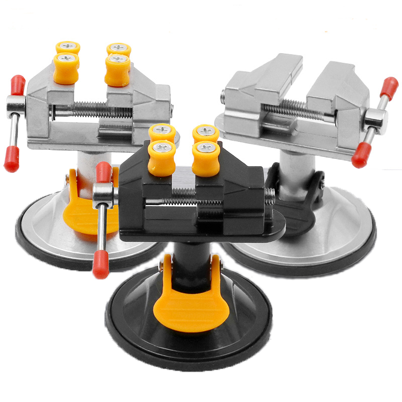 360 Degrees Rotation Vise Suction Cup Table Screw Repair Tools Vice Clamp Woodworking Vise Table Vise Bench Clamp Grinder