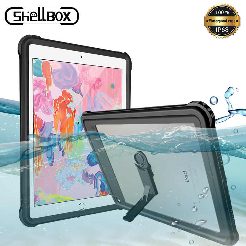 Shellbox Waterproof Case For Apple Ipad Pro 10 5 11 9 7 2017 2018 Silicone Case Tablet Protector Cover For Ipad Mini 4 5 Case Tablets E Books Case Aliexpress