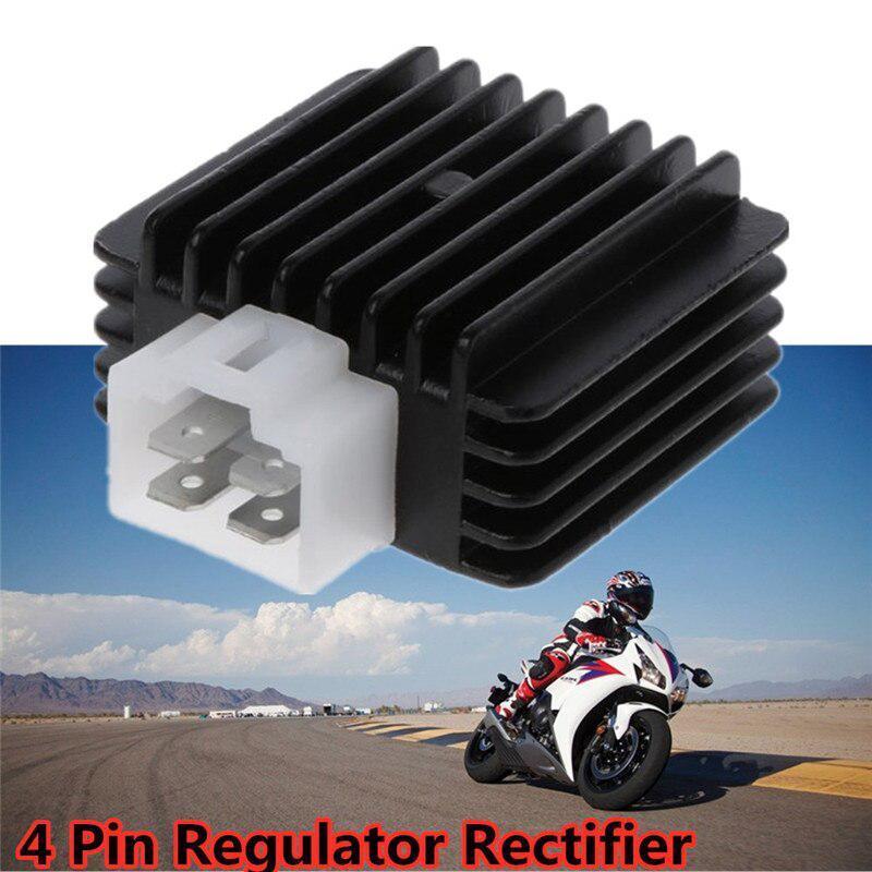 Accesorios para coche Moped Scooter Quad ATV 4 PIN regulador de voltaje rectificador 90CC 110CC 125CC 140CC 200CC