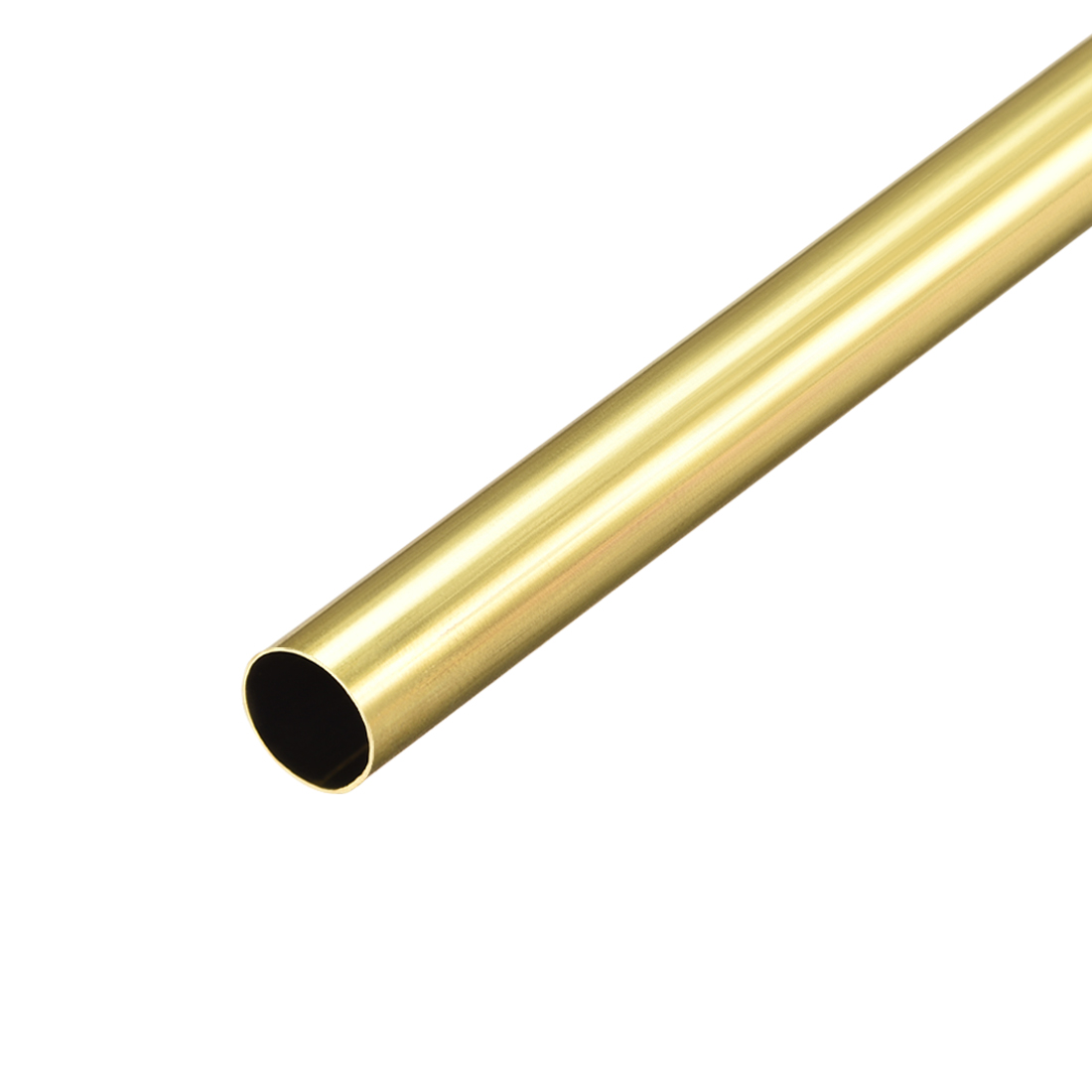 Uxcell Brass Round Tube 300mm Length 9.5mm OD 0.2mm Wall Thickness Seamless Straight Pipe Tubing