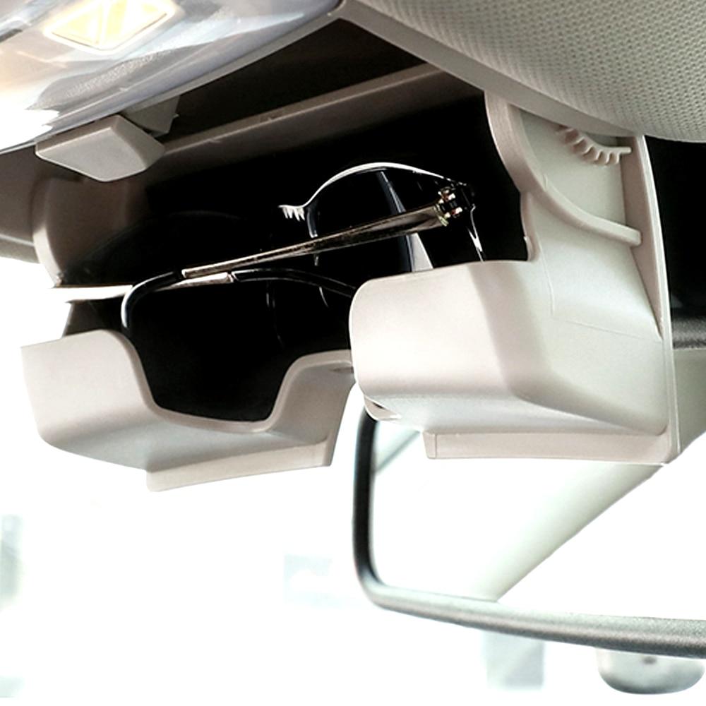 Car Glasses Case For BMW F15 F16 X5 X6 Series Car Accessories Beige Gray Black Sun Visor Sunglasses Holder Storage Box ABS Case