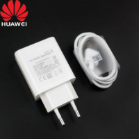 Huawei SuperCharge 40W Fast Charger Mate 30 20 P30 P20 Mobilephone Travel EU Charge adapter type c cable for Mate 30 Pro p30pro