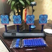Dla zabawka Nerf cel elektryczny precyzyjny automatyczny Reset punktowanie pistolet cel dźwięk światło strzelanka zabawki sportowe na świeżym powietrzu Dropship