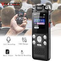 Volemer Digital Voice Recorder Schnelle Lade Zwei-Weg Mikrofon Sound Recording Digital Audio Mini Diktiergerät Mp3 Musik Player