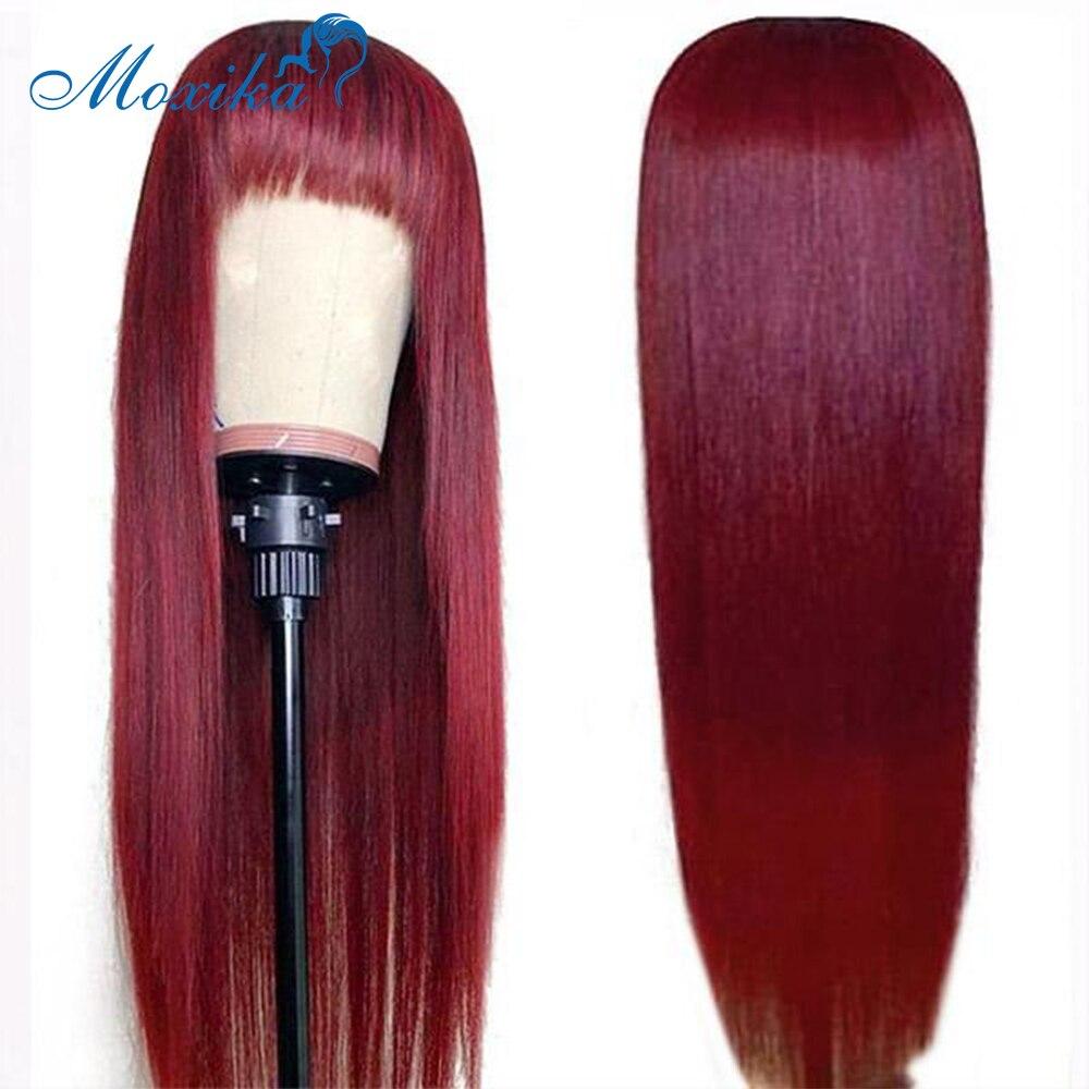 99j peruca de cabelo humano com franja cabelo humano franja peruca 150 remy peruano peruca de cabelo máquina cheia peruca de cabelo em linha reta peruca