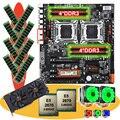 HUANANZHI dual X79 motherboard bundle with M.2 256G SSD video card GTX1660TI 6G dual CPU Xeon E5 2670 with coolers RAM 64G(8*8G)