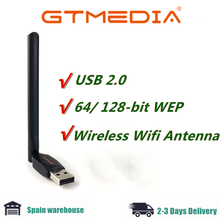 GTMEDIA USB WiFi RT5370 с антенной для Freesat V7S HD V8 Super,V7 PLUS ТВ-приставка цифровой приемник спутниковый приемник