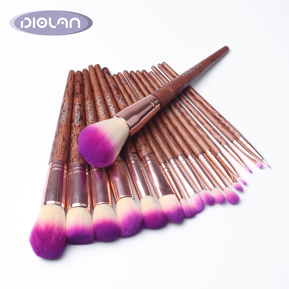 DIOLAN Makeup-Brushes-Set Foundation Eyeshadow Eyeliner Powder Cosmetics Synthetic-Hair