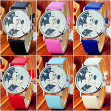 Fashion Cool Cartoon Mouse Watch for Children Girls Clock Le