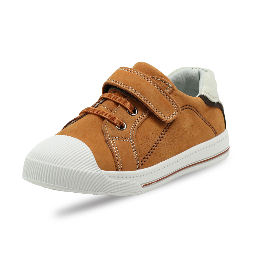 Image 3 - Apakowa Little Kids Leather Low top Hook and Loop Sneakers for Boys and Girls Outdoor Anti Slip Casual Sports Running ShoesSneakers   -