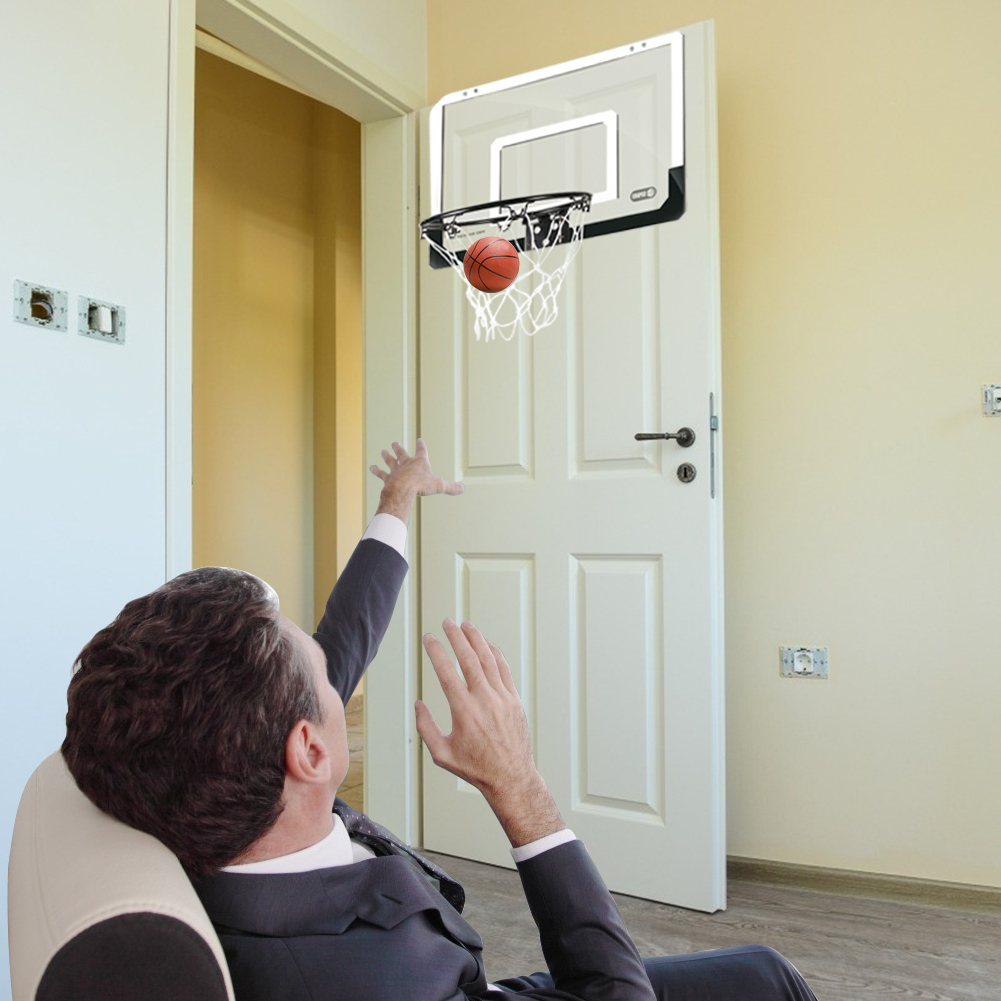 Children Hanging Basketball Hoop Indoor Door Wall Mounted Kids Mini Basket Ball Board Toy Set with Pump