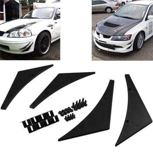 Car Refit Part Front Bumper Lip Diffuser Splitter Fins Spoiler Canards General Use Universal Auto accessories styling 4PCS in Bumpers from Automobiles Motorcycles