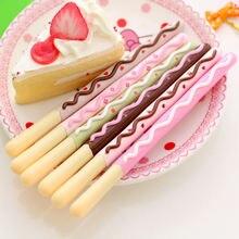 Гелевые ручки с печеньем и шоколадными палочками 6 шт 038 мм