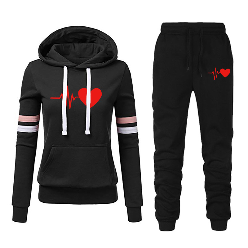 Tracksuit Women 2 Piece Set Clothing Fashion Casual Long Sleeve Hoodies Sports Tops Pants Tracksuit Sweat Suit Jogging