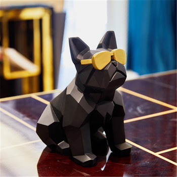 Nordic Creative Origami Glasses Dog Decoration Personality Home Decor Wine Cabinet Living Room Geometric Crafts Decoration A1313