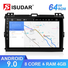 Isudar 1 Din Android 9 DVD Auto Radio For Toyota/Prado 120 2004-2009 Car Multimedia Player Octa Core RAM 4G ROM 64GB GPS DVR DSP цена и фото