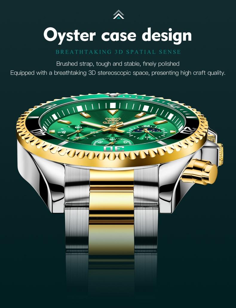 OLEVS 2870 Waterproof Stainless Steel Casual Watch 12