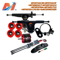 Maytech (11pcs) rc brushless motor 6355 170KV and wireless remote and esc with electric skateboard mount with pulley|maytech|maytech motormaytech esc -