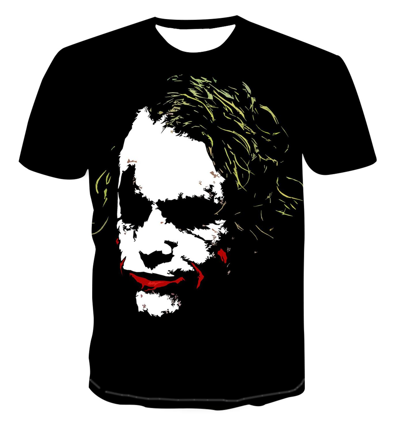 Hot Selling Clown 3D Printing T-shirt Men's Clown Figure Leisure Men's Fashion Trend Short Sleeve Handsome Top S-6xl