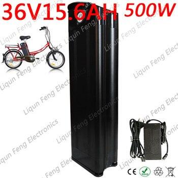 Envío Gratis 500W 36 voltios Silver Fish Black 36 V 15AH e-bike batería de iones de litio bicicleta eléctrica AA 18650 batería con cargador