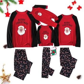 Ropa de pijamas de navidad, ropa a juego familiar, conjuntos a juego, Tops de ropa de dormir, blusa, pantalones, conjunto de pijamas de navidad