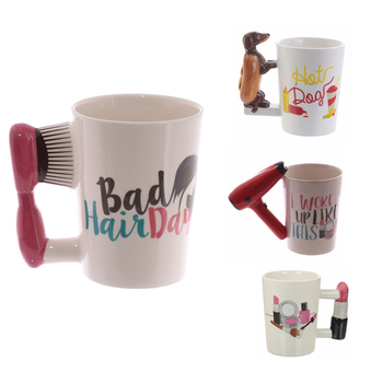 3D Hand Painted Mugs Girl Tools Beauty Handle Ptinting Tea Coffee Mug Cup Personalized Mugs For Gift 1