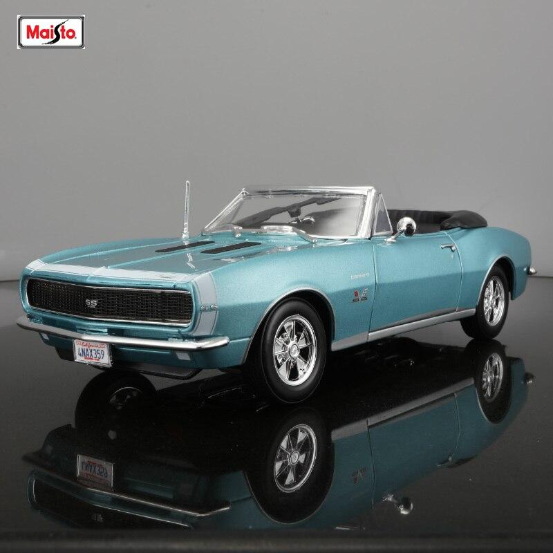 Maisto 1:18 1967 chevrolet camaro ss 396 coupe carro simulação liga modelo de carro coletar presentes brinquedo