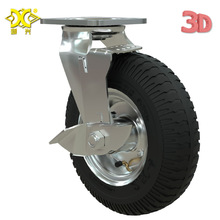 Heavy 8-inch Inflatable Rubber Caster With Brake Hotel Service Garage Entrance Cart Luggage Trolley Wheel Universal entrance decoration inflatable flower archway