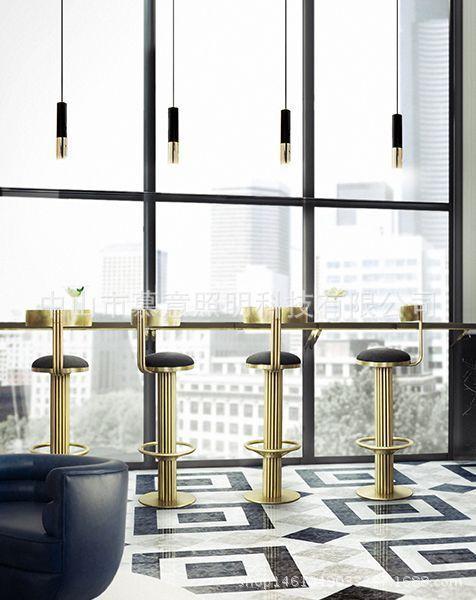 Gold Lampshade Pendant Lights Led Hanging Spotlight Lamp Nordic Modern Design For Dinning Room Metal Suspension Luminaire